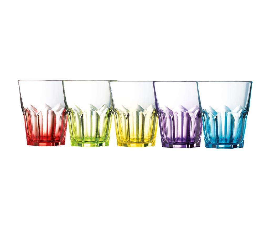 Set 6 pahare Crazy Colors 300 ml