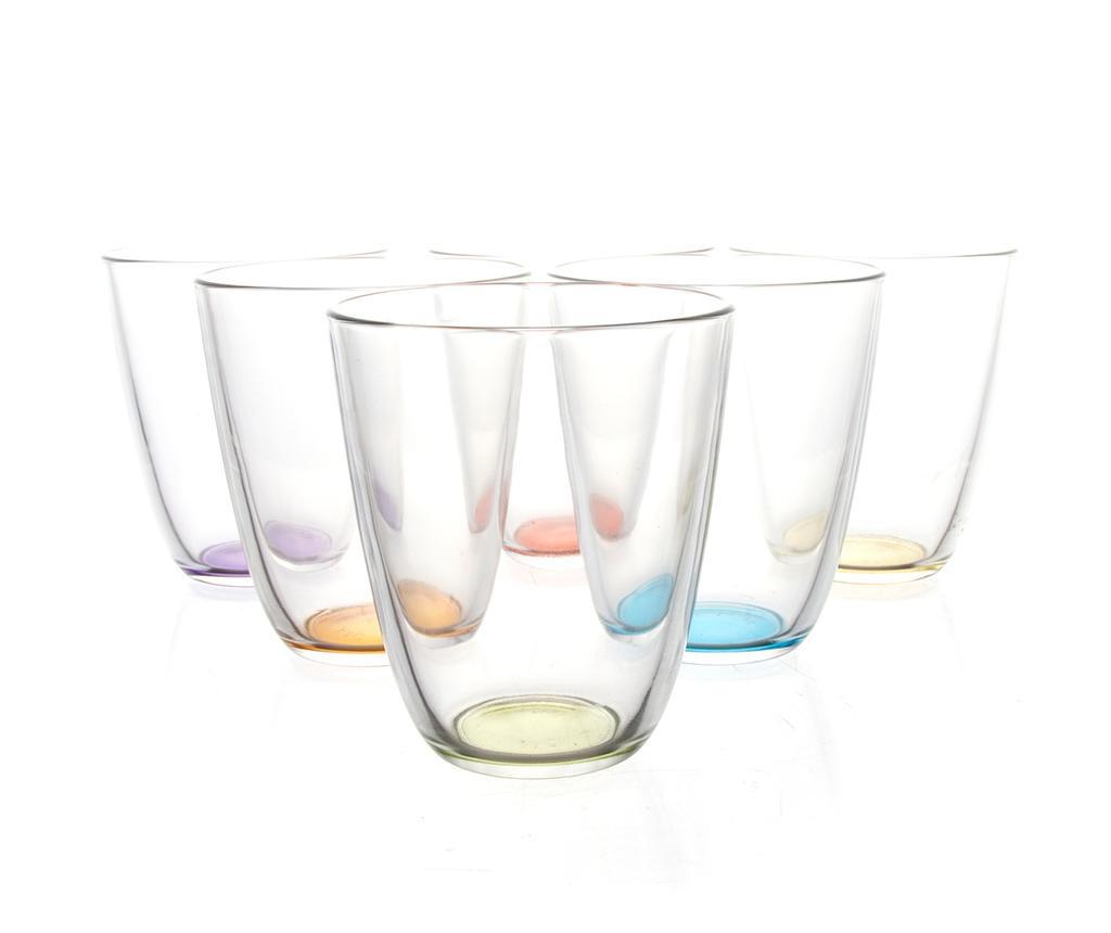 Set 6 pahare Crazy Colors 310 ml