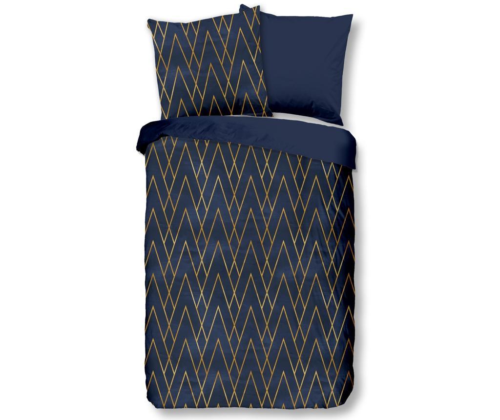 Set de pat Double Bohe Blue