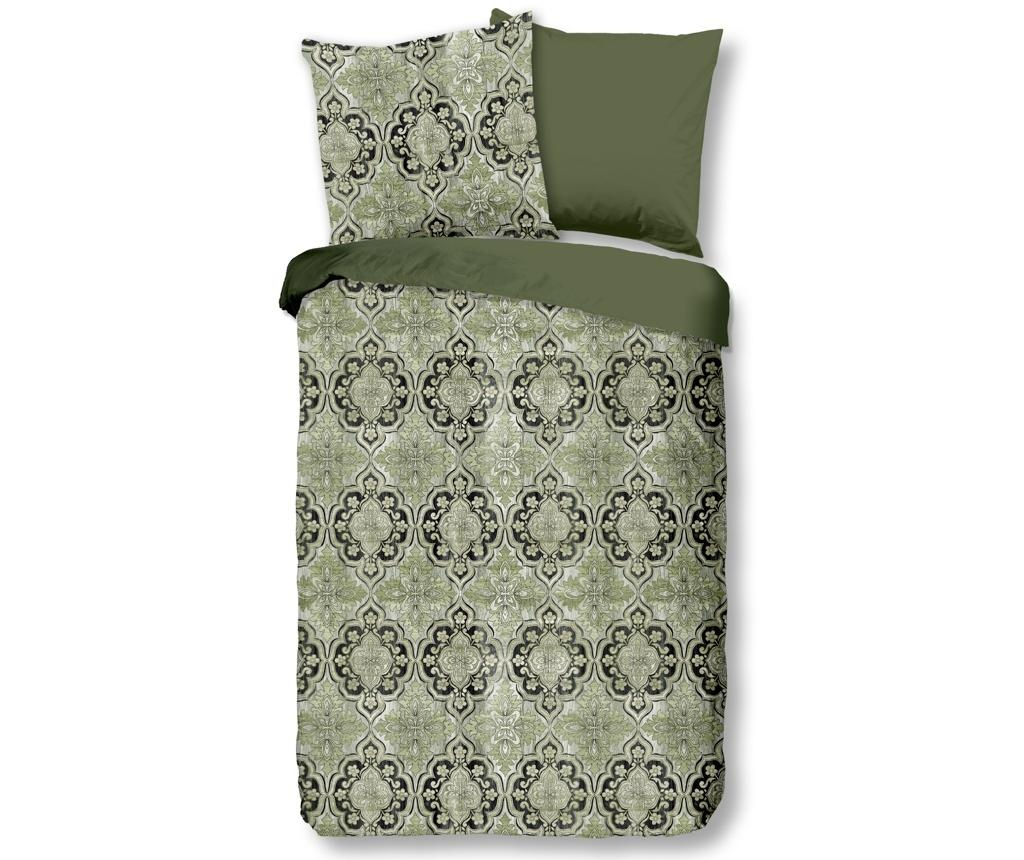 Posteljnina Single Sateen Rocco Green