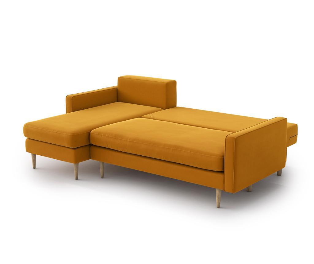 Coltar reversibil extensibil Esme Golden Velvet