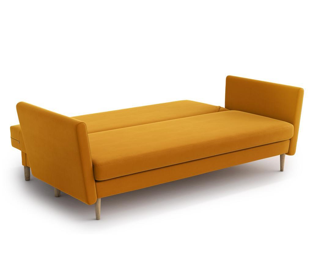 Joleen Golden Velvet Kihúzható háromszemélyes szófa
