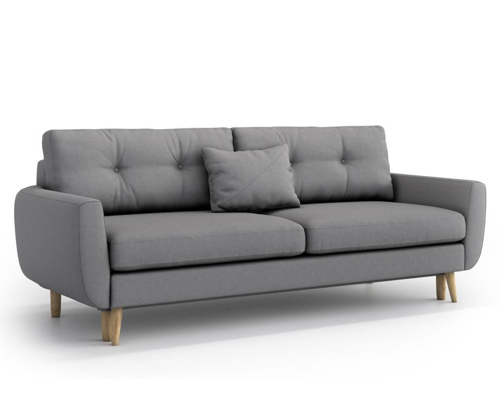 Canapea extensibila 3 locuri Harris Gris Grey