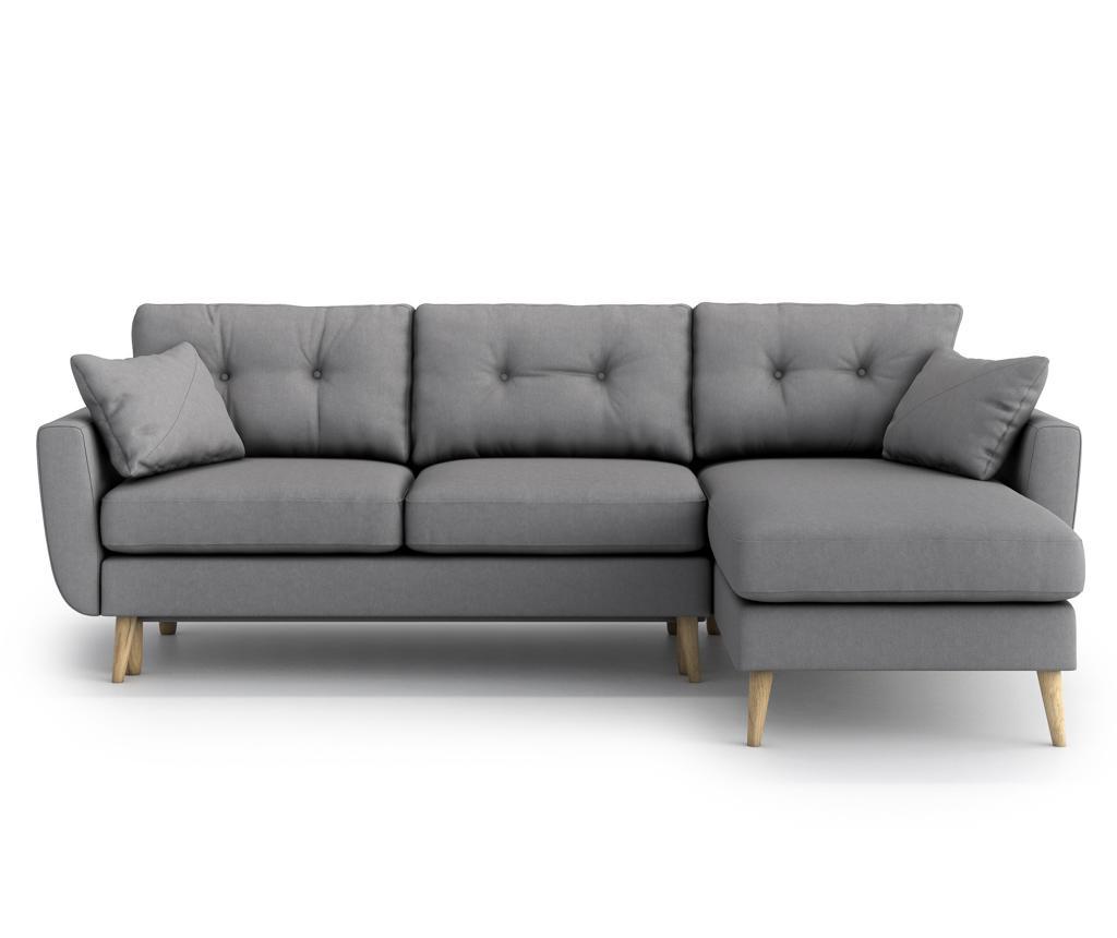 Разтегателен ъглов диван Harris Gris Grey