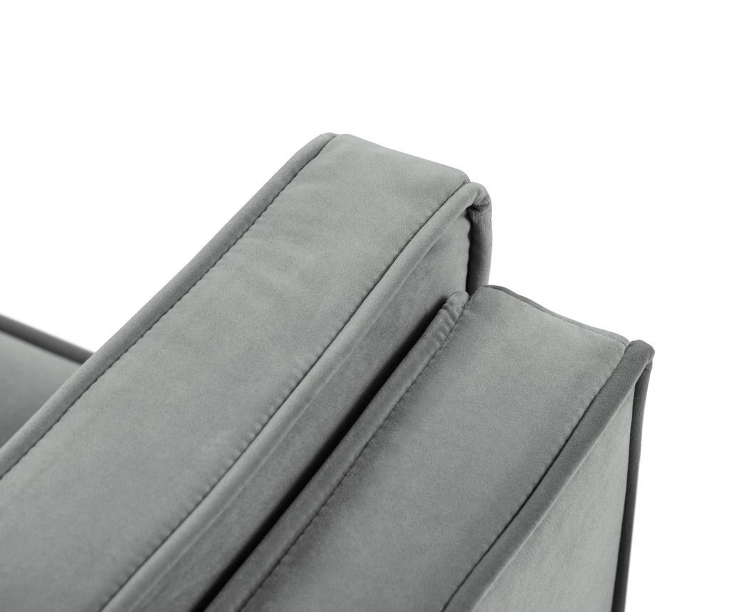 Luis Light Grey Háromszemélyes kanapé