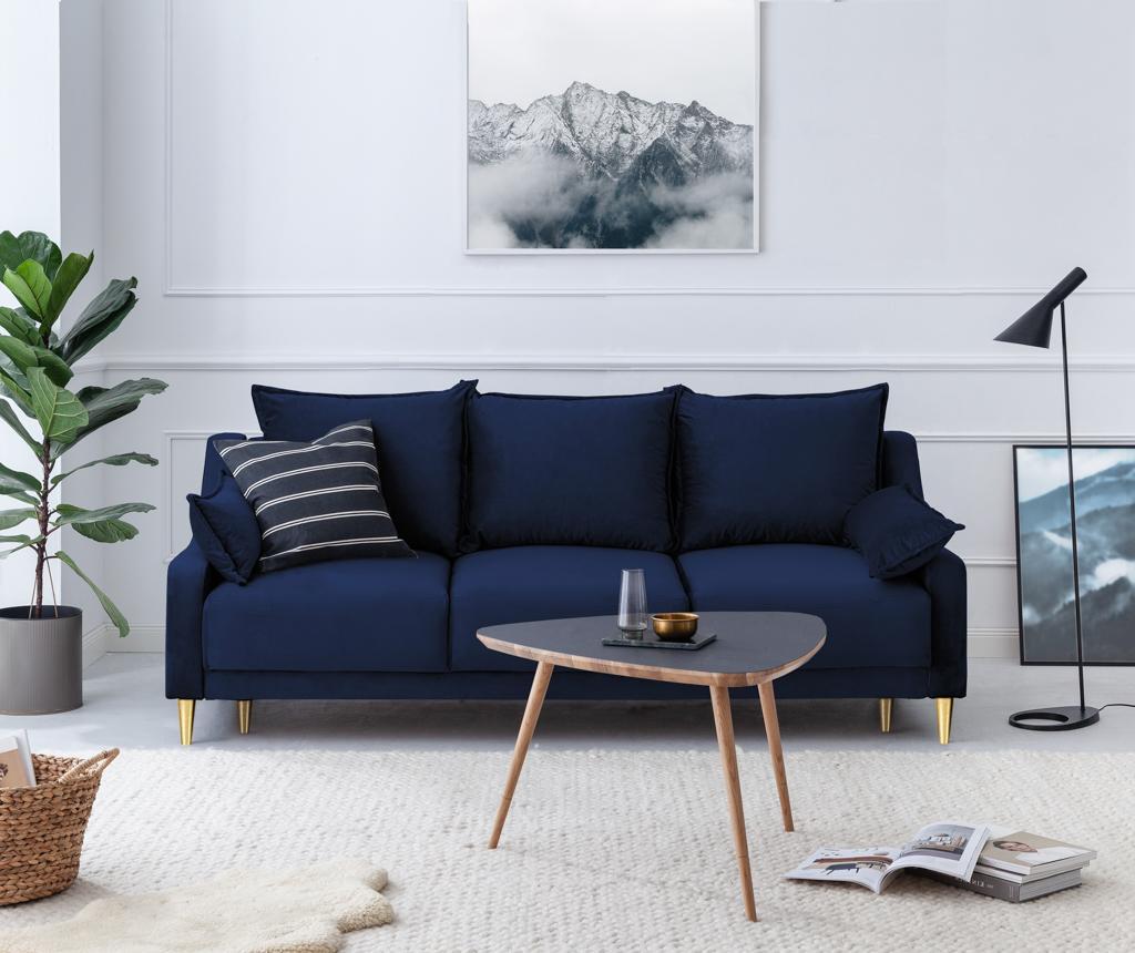 Canapea extensibila 3 locuri Pansy Royal Blue