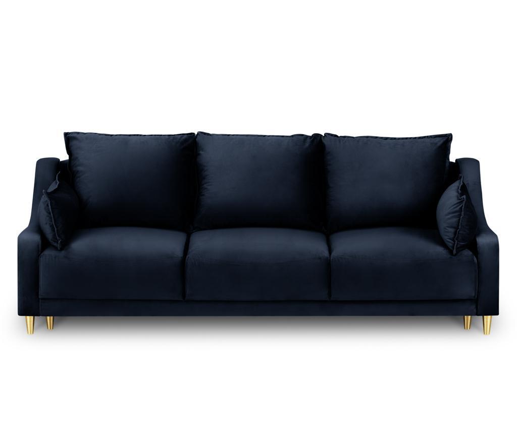 Canapea extensibila 3 locuri Pansy Dark Blue