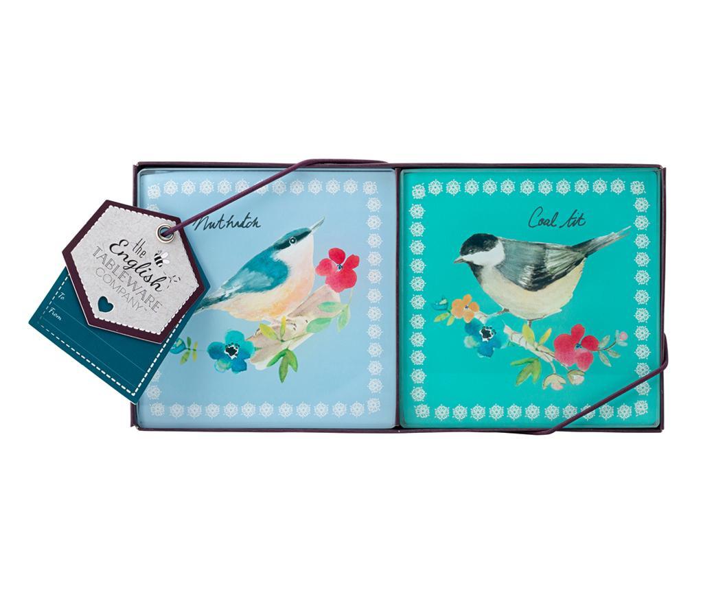 Set 4 podmetača za čaše Garden Birds