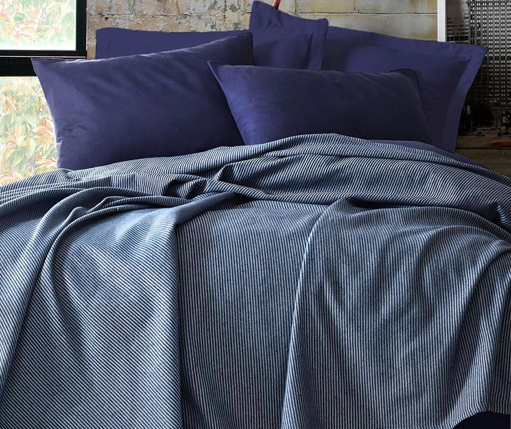 Set cuvertura cu cearsaf de pat Double Deportes Dark Blue