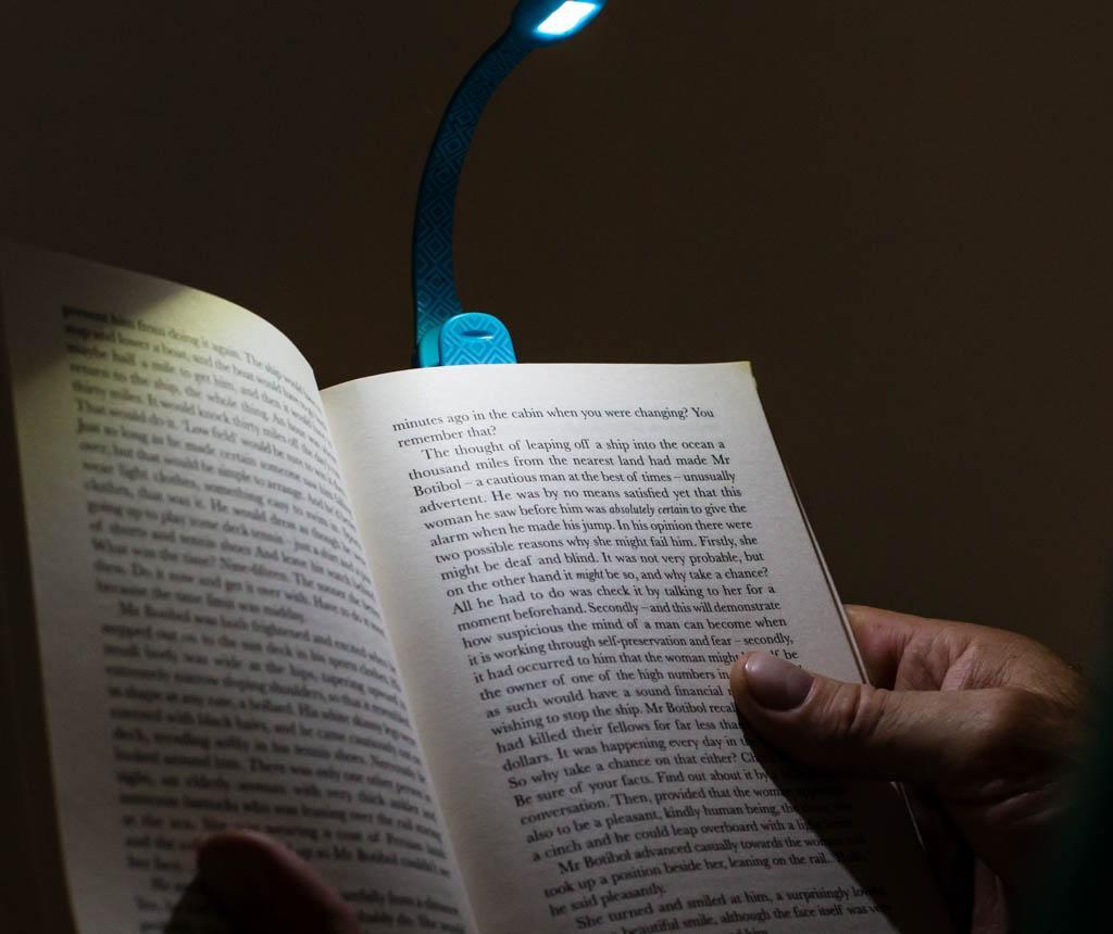 Flexilight Xtra Blue Geometric Könyv fény