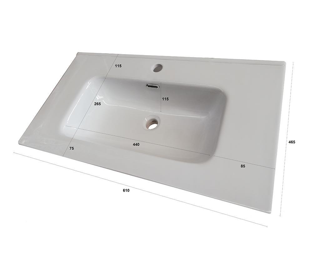 Czteroczęściowy zestaw mebli łazienkowych One Blue