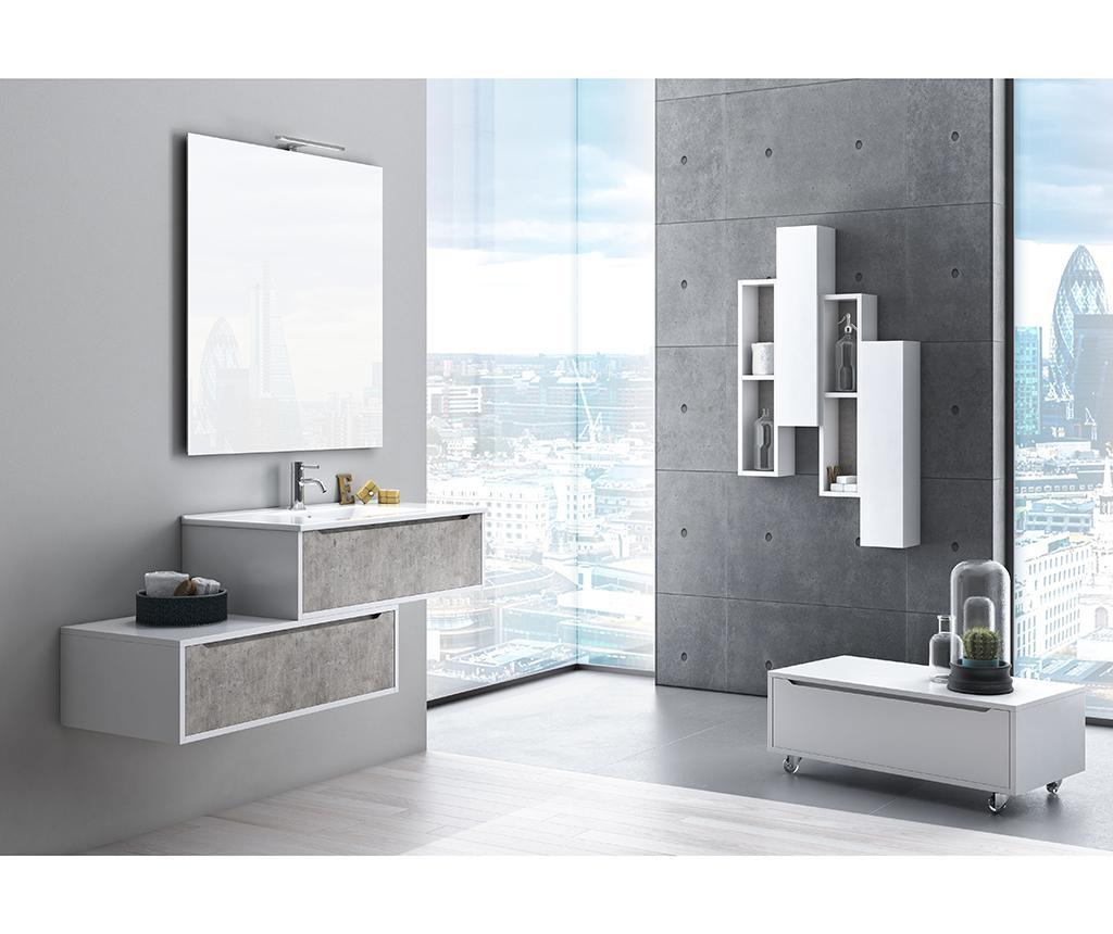 Pięcioczęściowy zestaw mebli łazienkowych Belsk Concrete