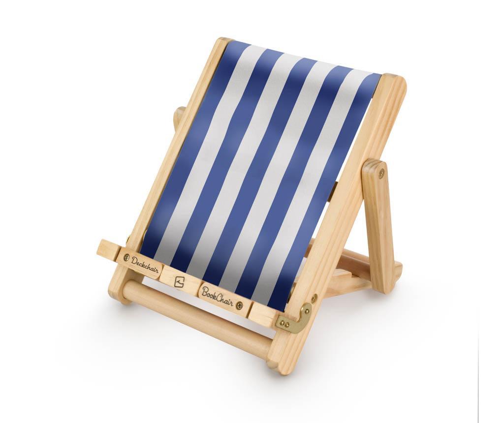 Suport de carti Deckchair Bookchair Stripy Blue