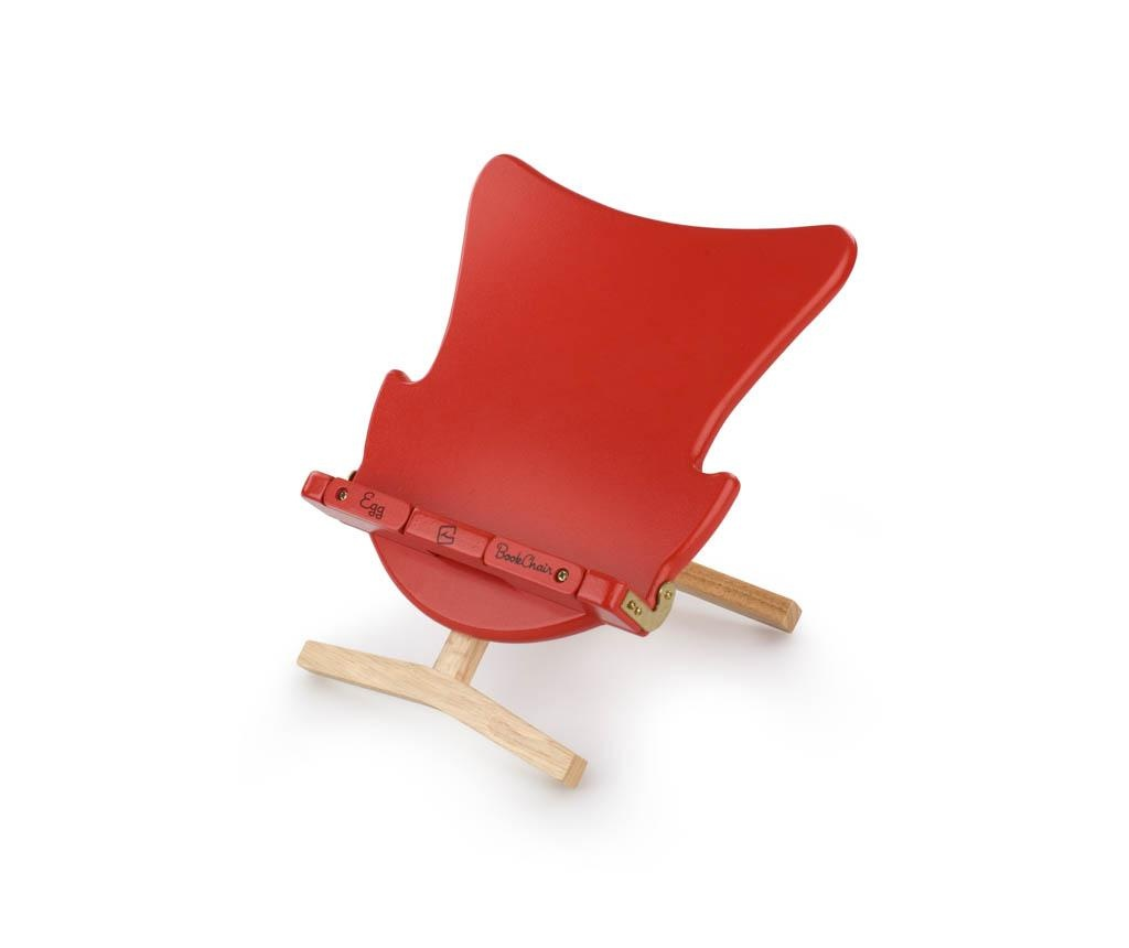 Suport de carti Egg Bookchair Red