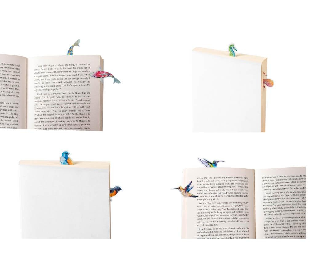 Set 30 semne pentru carte Stikki Marks Humming Birds