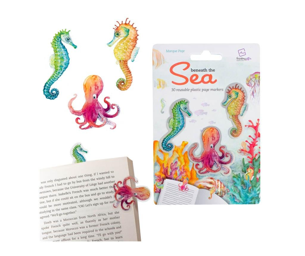 Set 30 semne pentru carte Stikki Marks Under the Sea