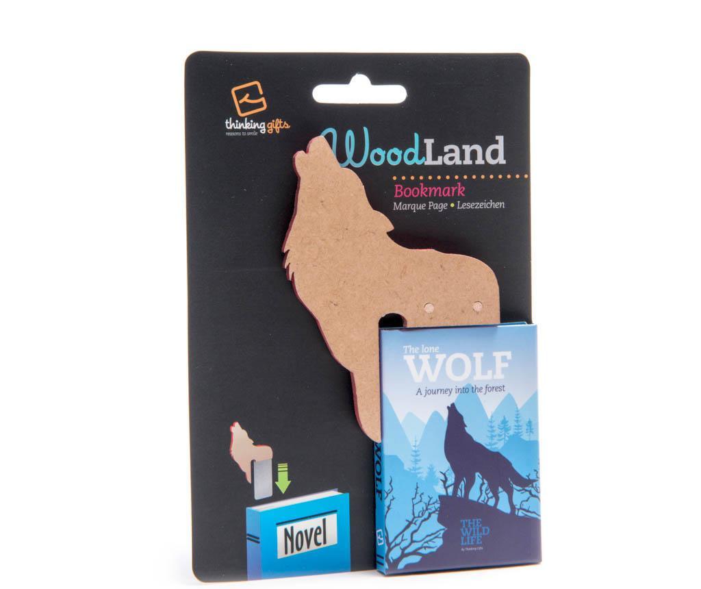 Woodland Animal Bookmark Wolf Könyvjelző