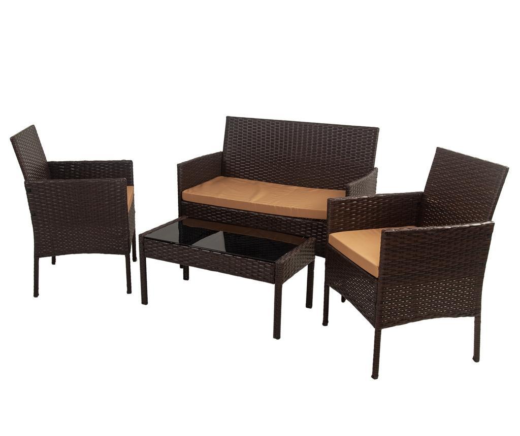 Set mobilier pentru exterior 4 piese Vivianne