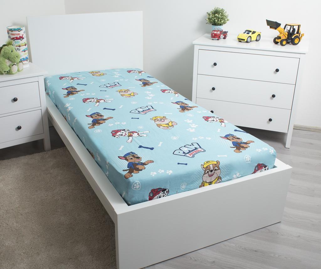 Cearsaf de pat cu elastic Paw Patrol 90x200 cm