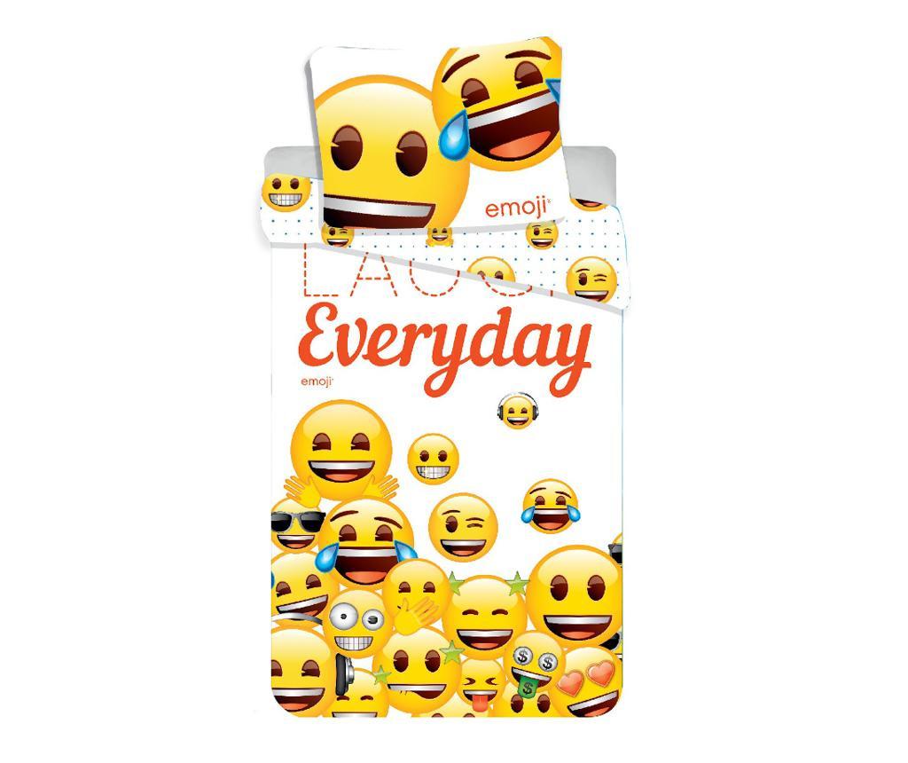 Posteljnina Single Emoji Laugh Everyday 140x200