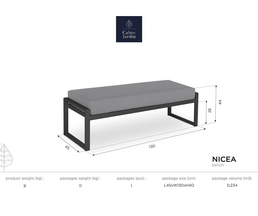 Klupa za vanjski prostor Nicea Blue White