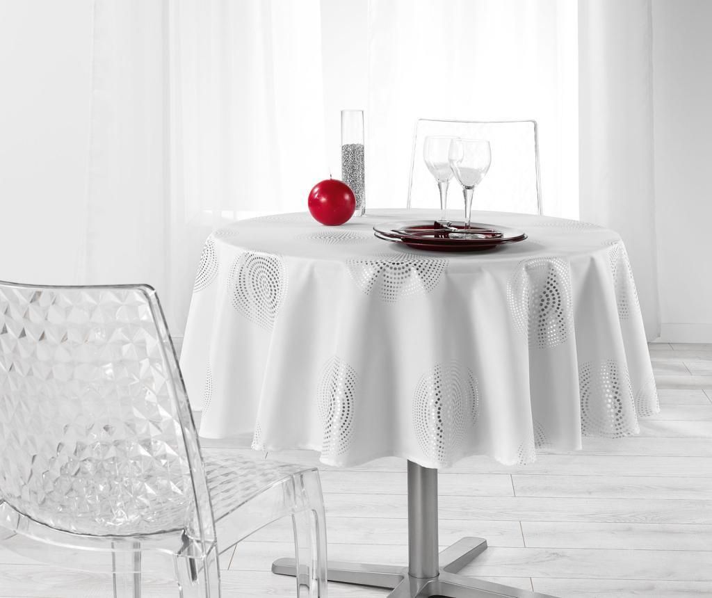 Stolnjak Atome Round White 180 cm