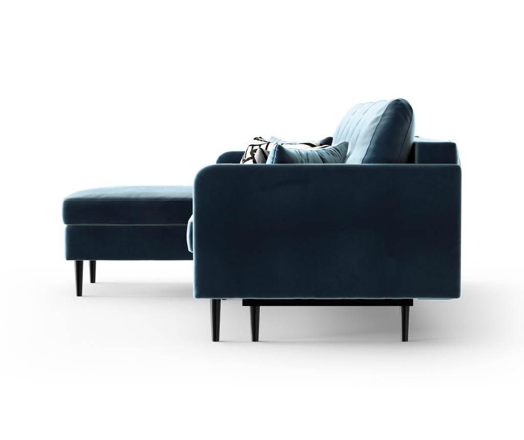 Разтегателен ляв ъглов диван Memphis Navy Blue