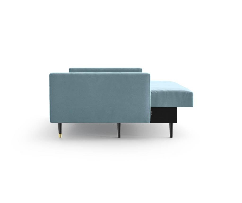 Canapea extensibila 3 locuri Aldo Light Bleu