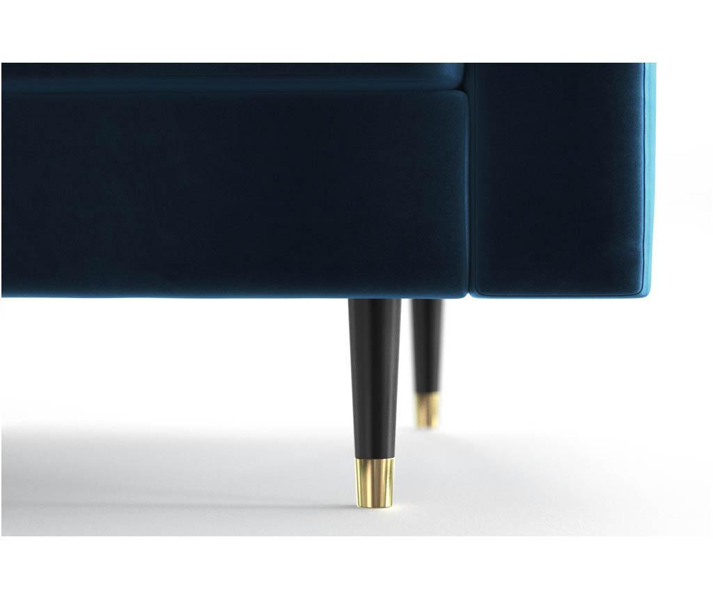 Canapea extensibila 3 locuri Aldo Blue