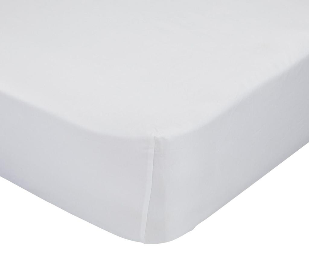 Plahta s elastičnom gumicom Basic White 90x200 cm
