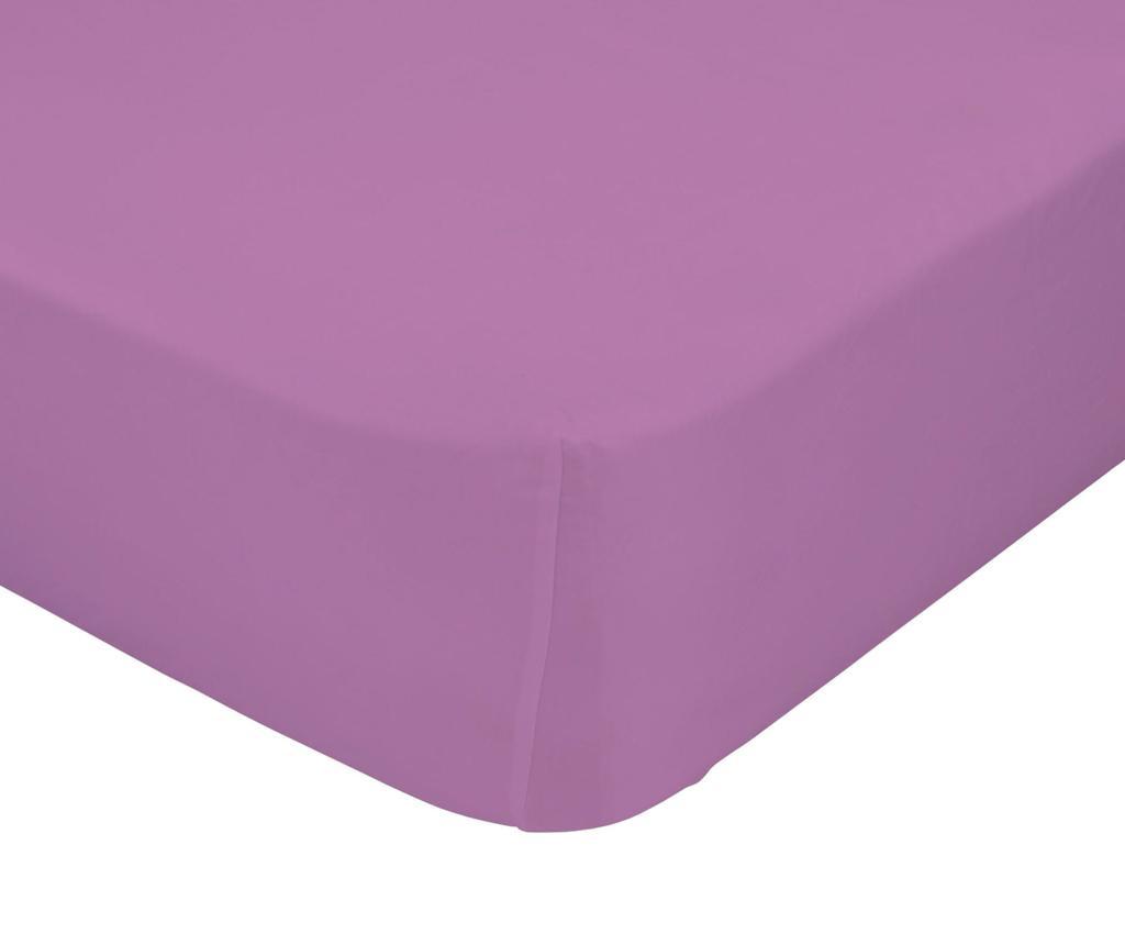 Plahta s elastičnom gumicom Basic Lilac 90x200 cm