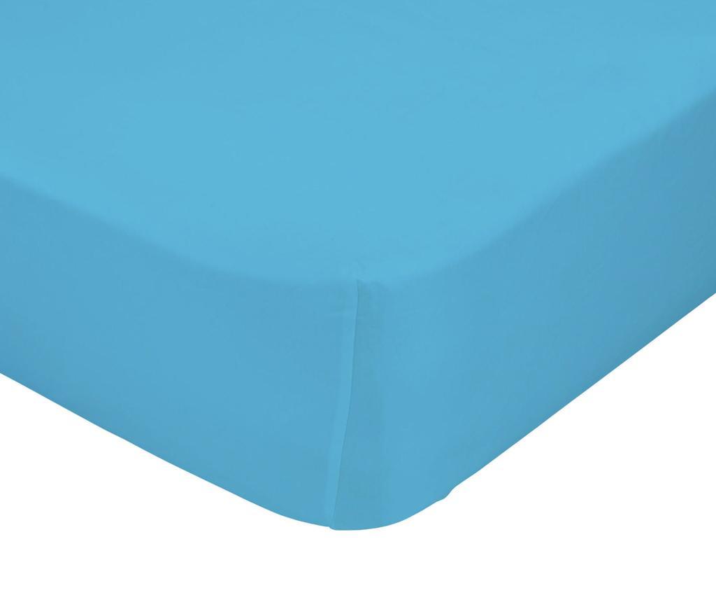Plahta s elastičnom gumicom Basic Turquoise 90x200 cm