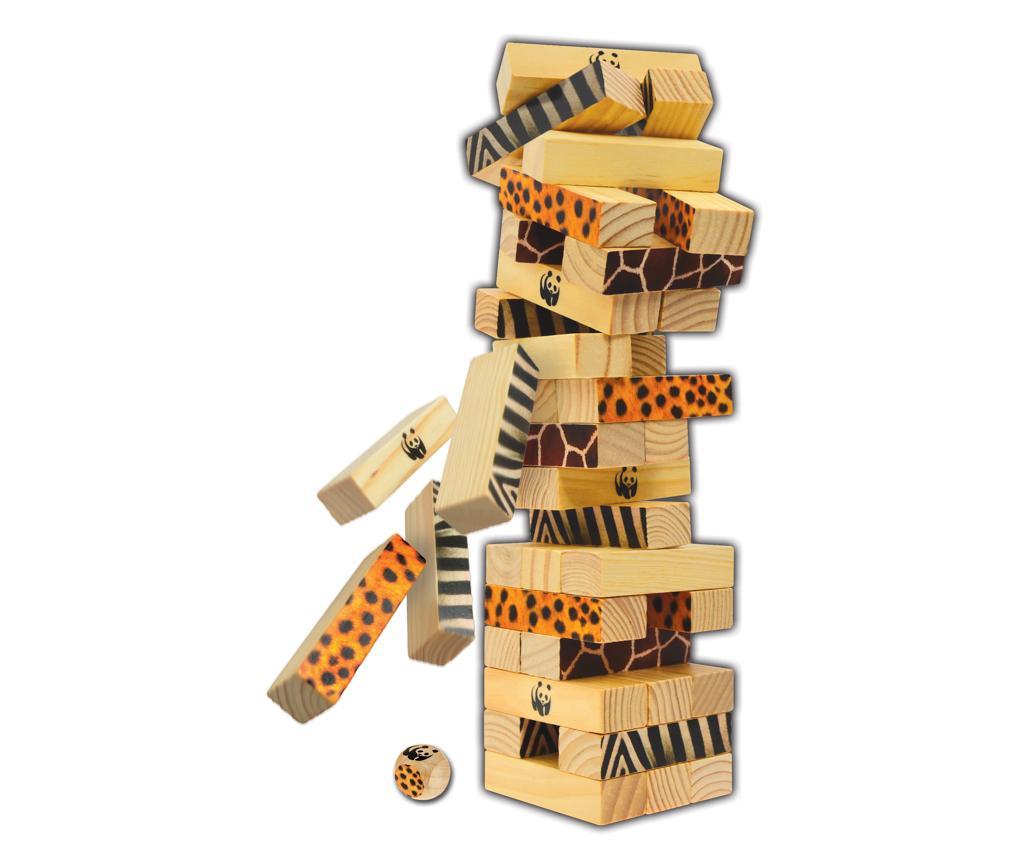 Joc de construit 49 piese Miombo Tumble Tower