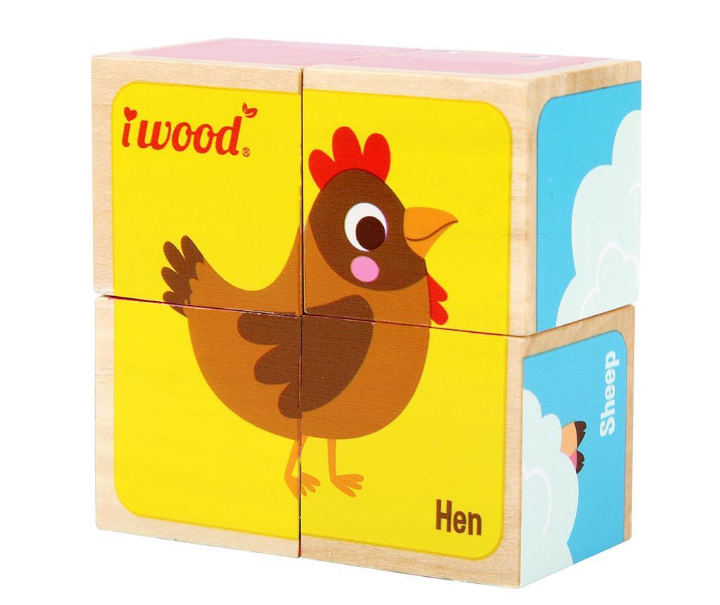 Joc tip puzzle 4 piese Farm Animals