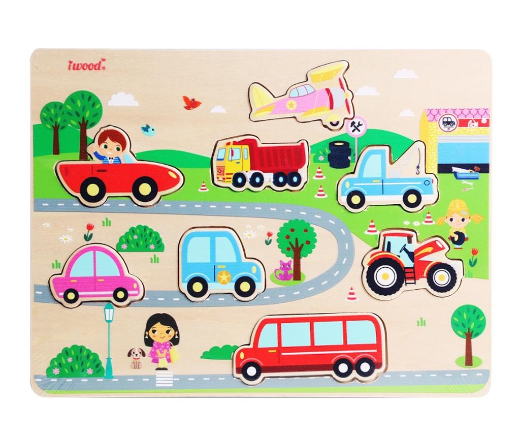 Joc tip puzzle 8 piese Vehicle