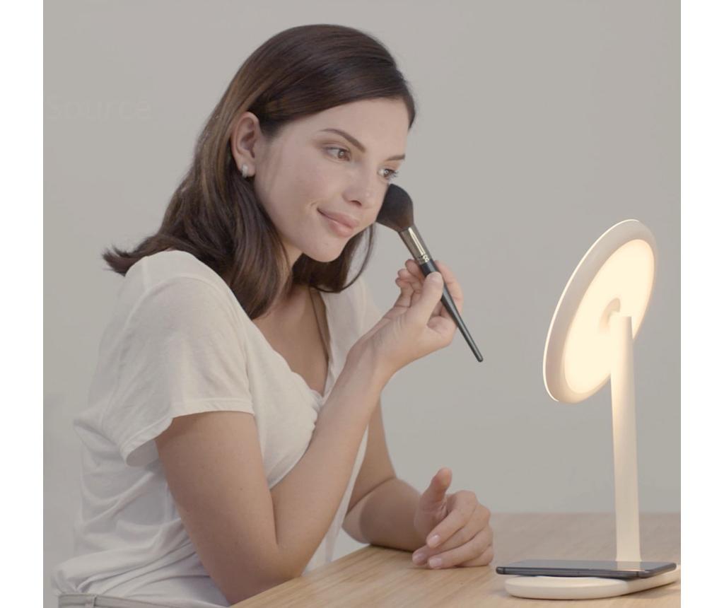 Brezžični mobilni polnilnik z LED sijalko in ogledalom Minimal Mint