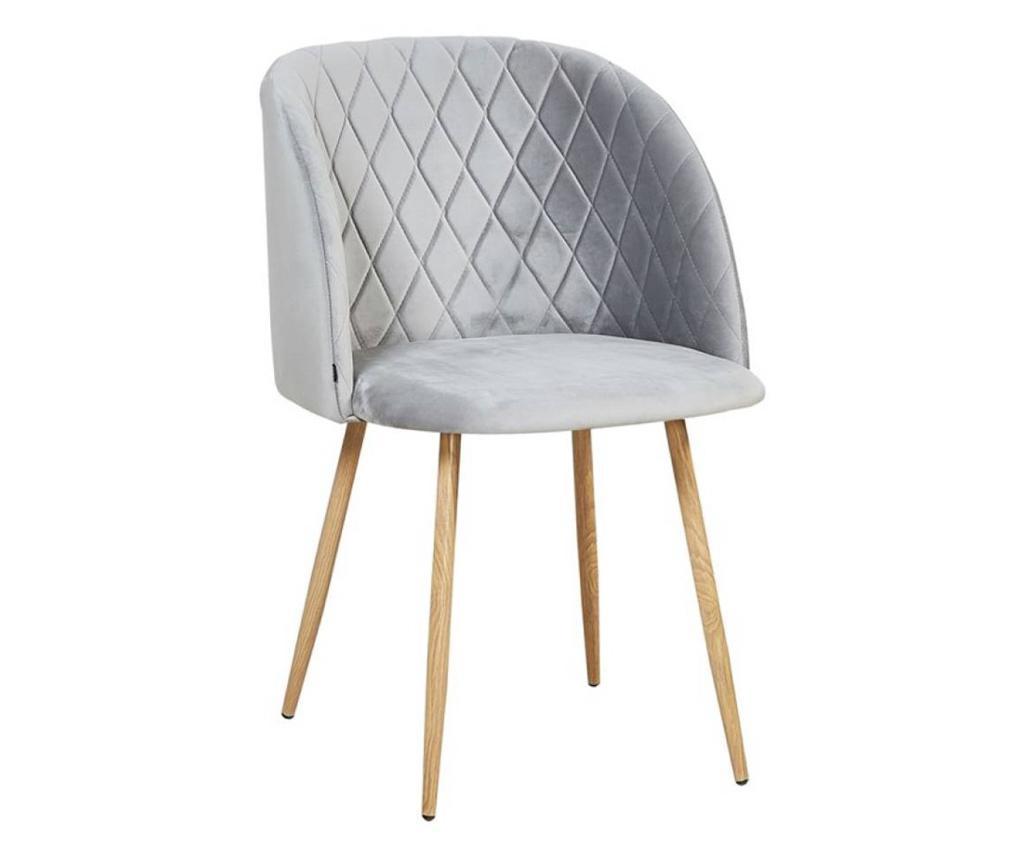 Stol Makro Grey Velvet