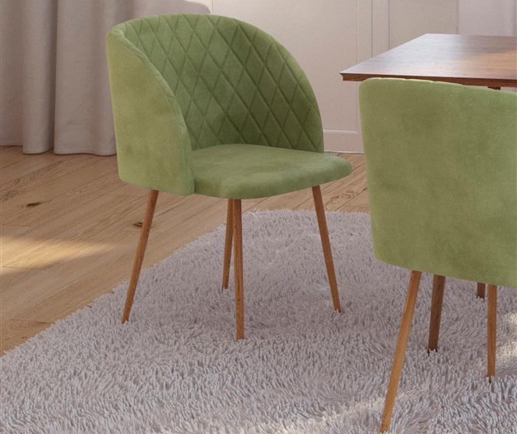 Stol Makro Light Green Velvet