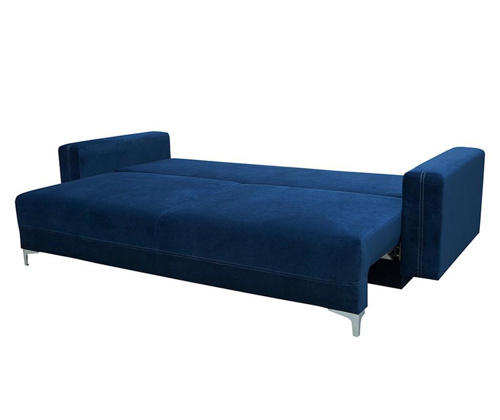 Marsylia Navy Blue Háromszemélyes kihúzható kanapé