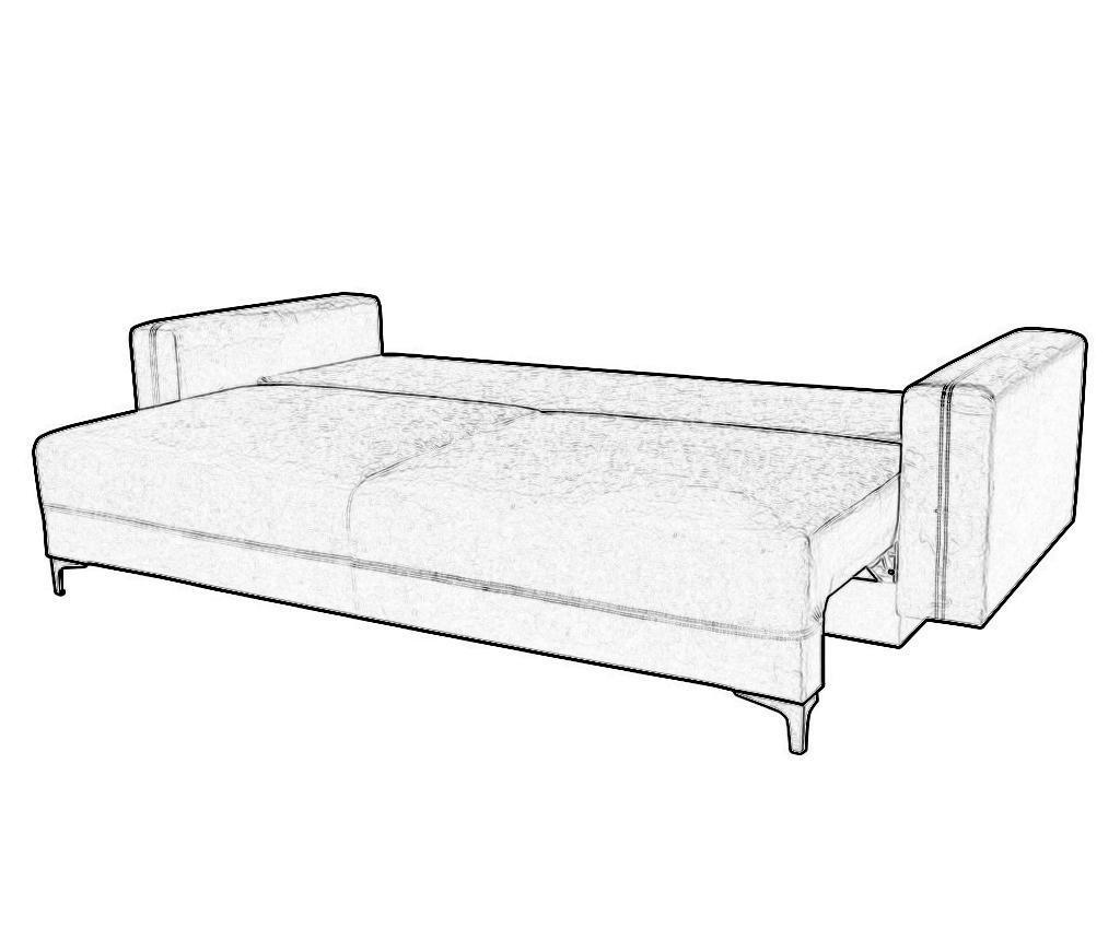 Marsylia Pink Háromszemélyes kihúzható kanapé