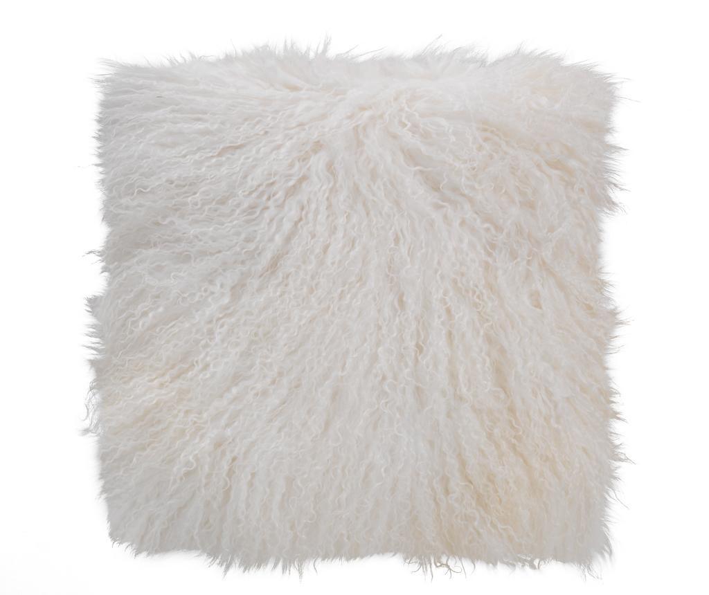 Fata de perna Fur Ivory 40x40 cm