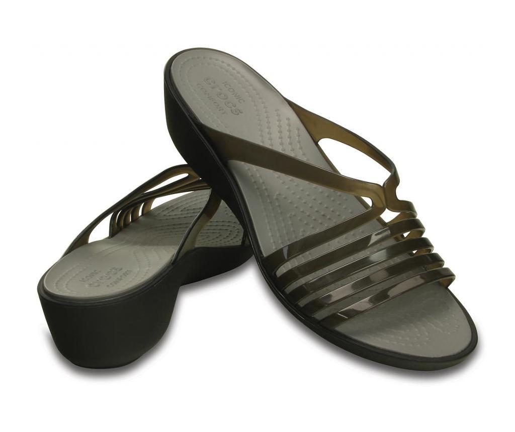 Ženski sandali Crocs Isabella Mini Wedge Black 41-42