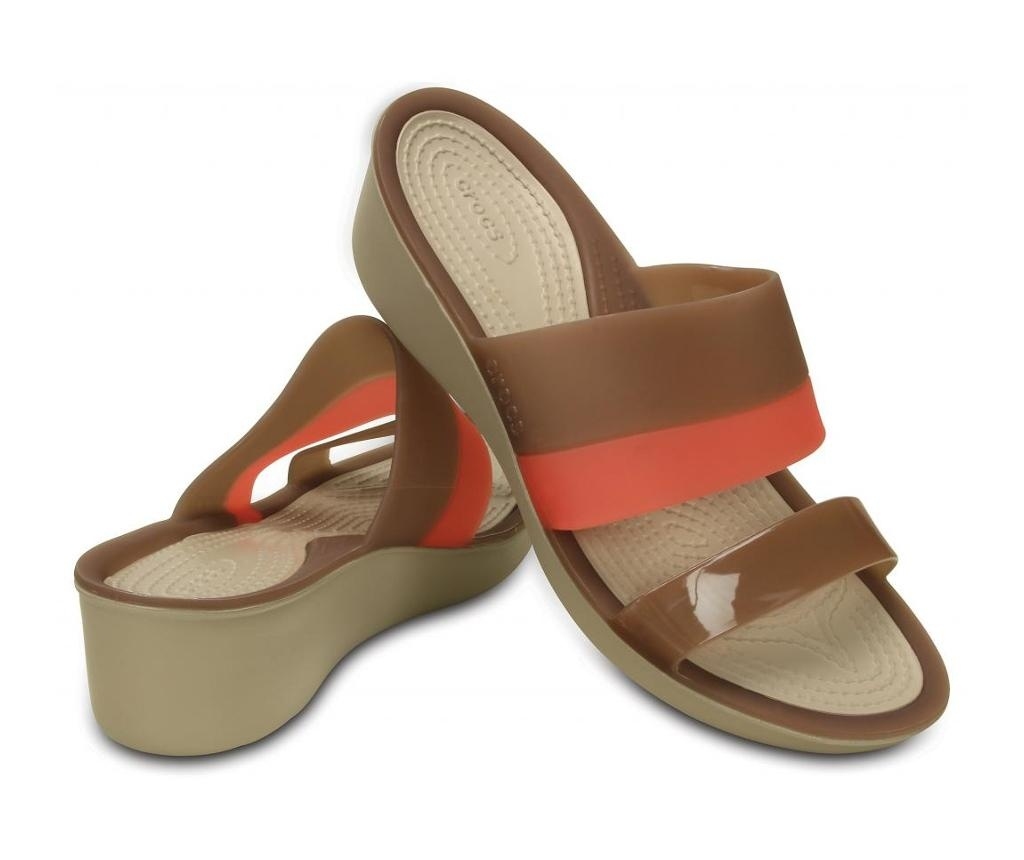 Ženske papuče ColorBlock Wedge Cream 36-37