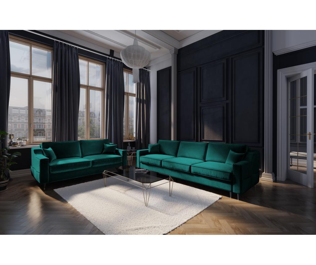 Canapea cu 2 locuri Amaryllis Bottle Green