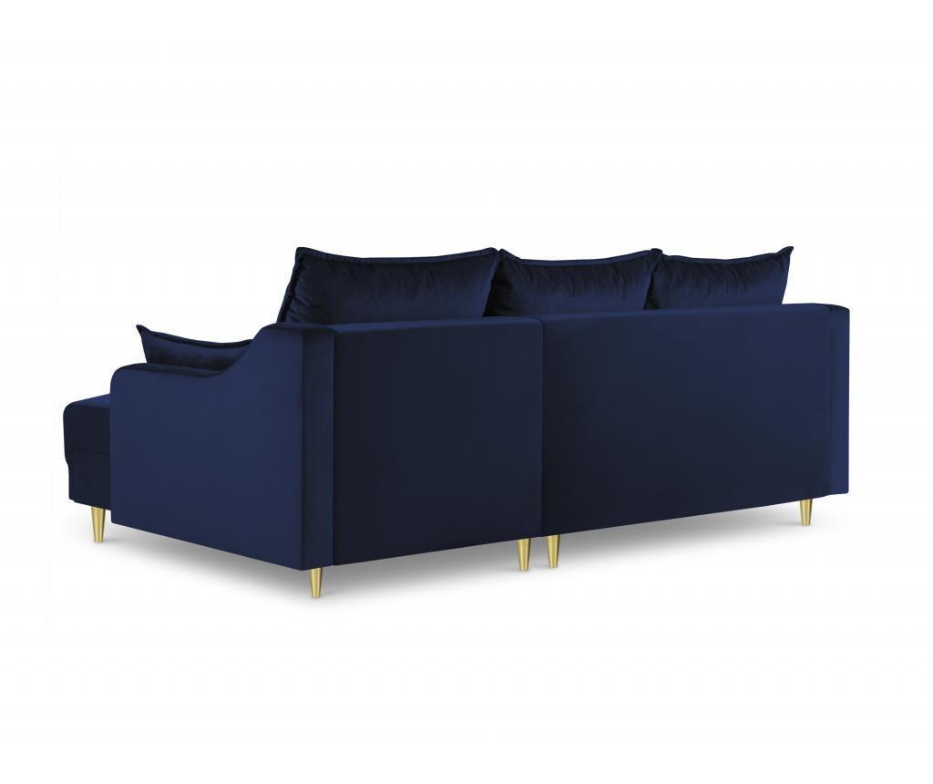 Coltar extensibil reversibil cu 4 locuri Pansy Royal Blue