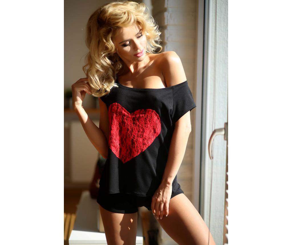 Ženska pižama Rome Black Knit 36