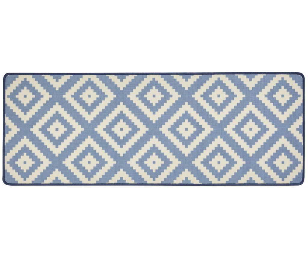 Covor Loop Blue Creme 67x180 cm