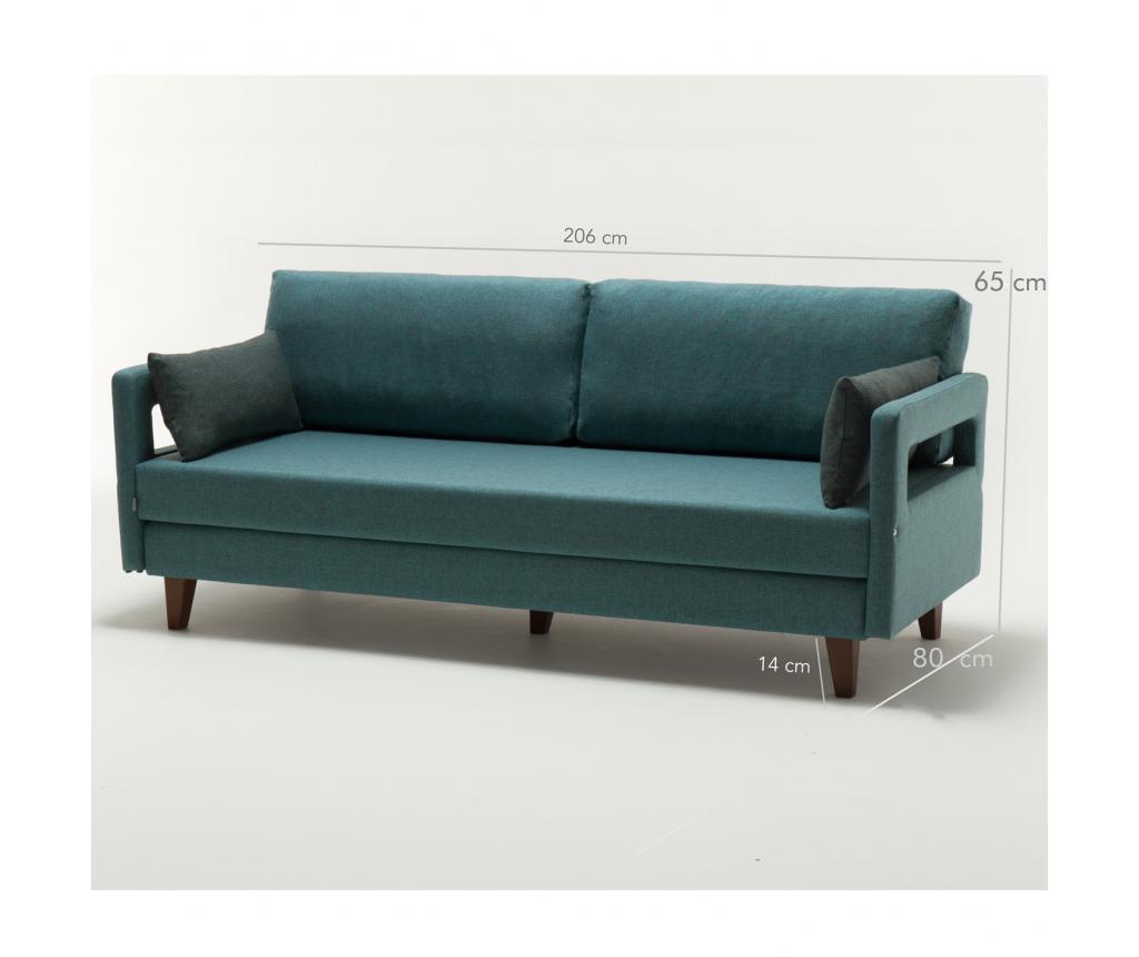 Raztegljiv trosed Comfort Elite Turquoise