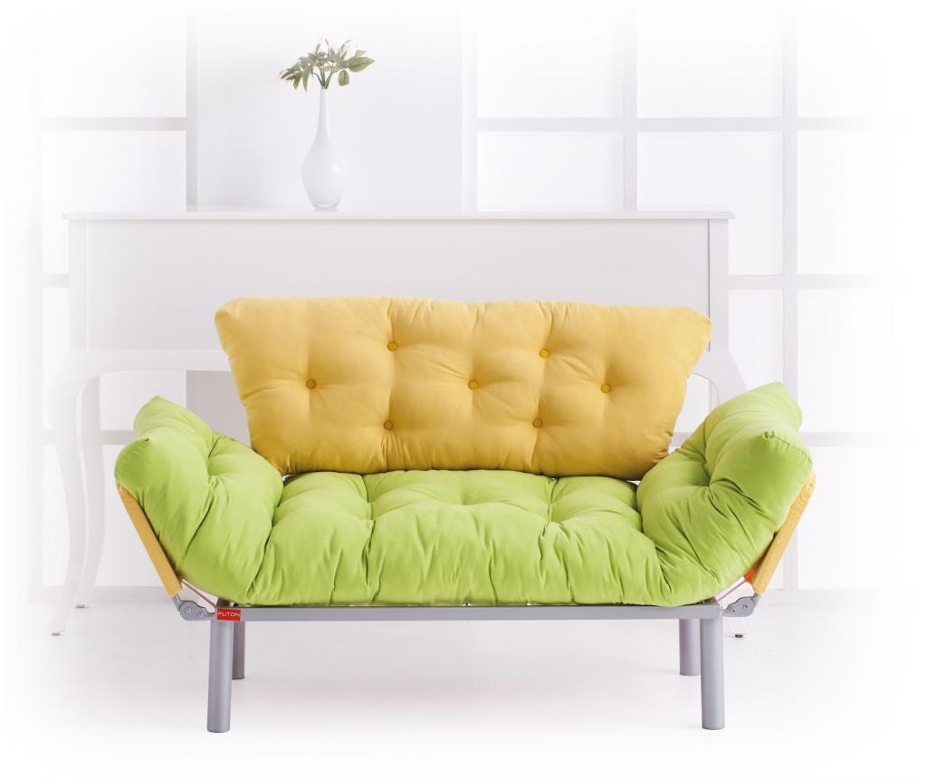 Canapea extensibila 2 locuri Ege Green & Yellow