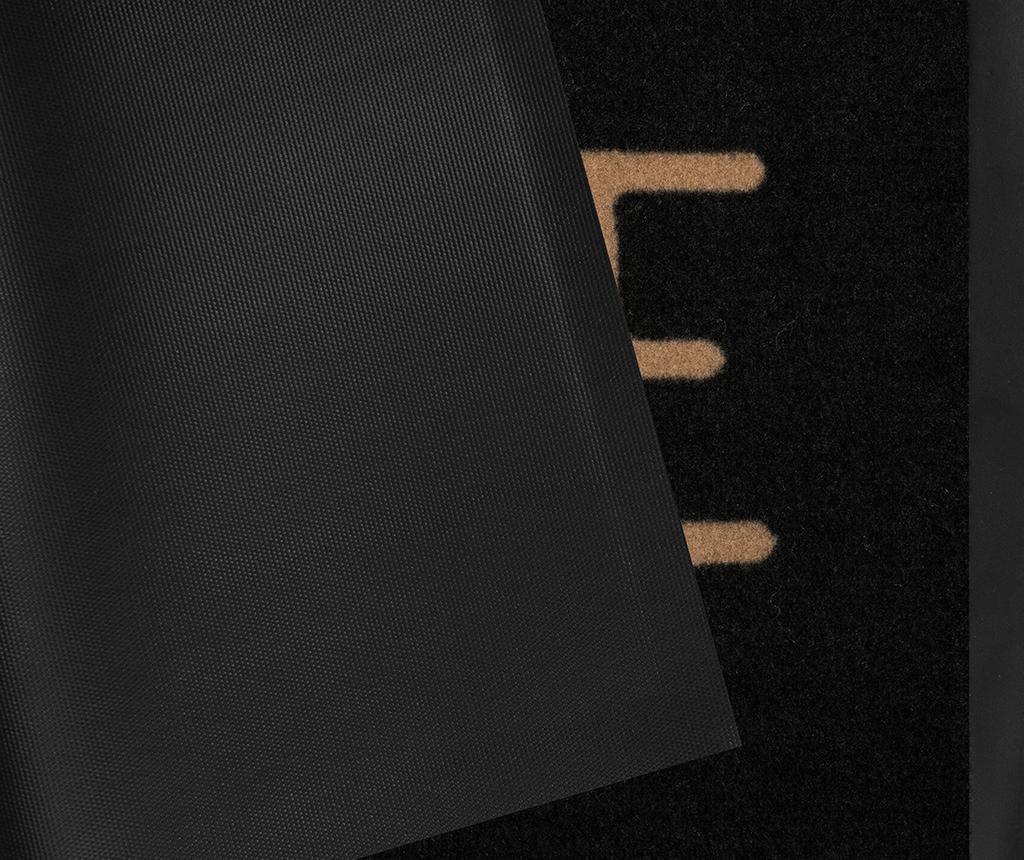 Printy Anthracite Beige Lábtörlő szőnyeg 45x75 cm